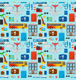 pattern for travel vector image