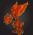 phoenix fire bird vector image vector image