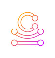 piercing jewelry gradient linear icon vector image