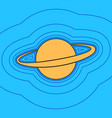 planet in space sign sand color icon with vector image vector image