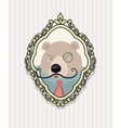 Portrait of a bear with a mustache wearing glasses vector image vector image