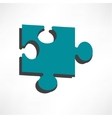Puzzles piece icon Flat design style vector image vector image
