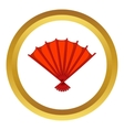Red open hand fan icon vector image vector image