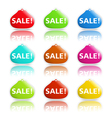Sale banners shaped as purse vector image vector image