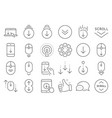 scroll down line icons scrolling mouse landing vector image vector image