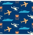 seamless pattern with transportation icons vector image vector image