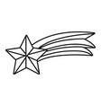 shooting star cartoon vector image
