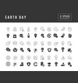 simple icons earth day vector image