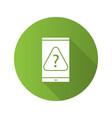 smartphone faq flat design long shadow glyph icon vector image
