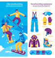 Snowboarding Vertical Banners vector image