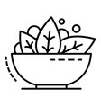 spinach bowl icon outline style vector image
