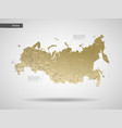 stylized russia map vector image