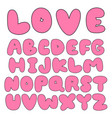 sweet pink balloon font collection vector image