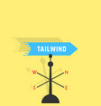 tailwind with vane and shadow vector image