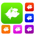 terrier dog set collection vector image vector image