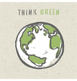 think green poster design vector image vector image
