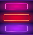 three rounded rectangular neon frames vector image vector image