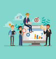 tiny characters business analysts or auditors vector image