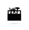 tool box icon in black vector image vector image