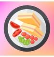 triangular club sandwich icon vector image