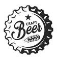vintage beer cap logo vector image vector image