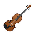 violin music instrument realistic icon vector image vector image