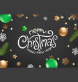 winter season holidays christmas greeting card vector image