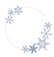 wreath christmas frame with snowflakes and vector image vector image