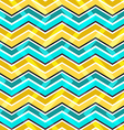 Yellow and blue zig zag seamless pattern vector image vector image
