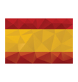 spain flag low poly vector image