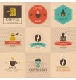 Coffee shop badges vector image