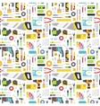 Construction tools icons seamless pattern vector image