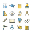 Set of education and learning line icons Flat vector image