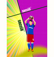 football player poster colored for designers vector image