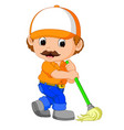 funny cleaning service vector image