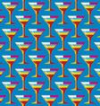 pop art cocktail glass seamless pattern vector image
