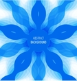 Abstract blue circle background with banner vector image vector image