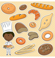 African-American baker vector image vector image