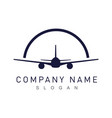 airplane logotype vector image vector image