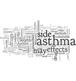 asthma treatment medications may not be worth the vector image vector image