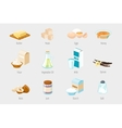 Baking ingredients in cartoon style Set of vector image