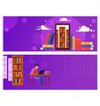 banner online education for website guy is vector image