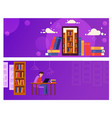 banner online education for website the guy is vector image