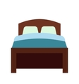 Bed flat icon vector image vector image