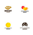 biscuit logo template cookies logo template vector image