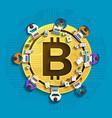 bitcoin teamwork vector image vector image