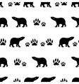 black bears walking seamless pattern eps10 vector image vector image