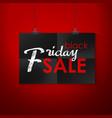 black friday sale emblem vector image vector image