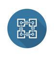 blockchain icon technology vector image