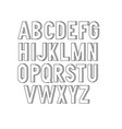 bold condensed slim thin grotesque font vector image vector image